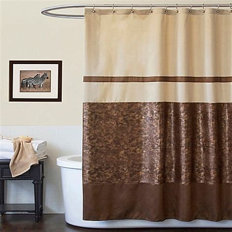 tan shower curtain buy crocodile brown 72 quot x 72 quot shower curtain from bed bath