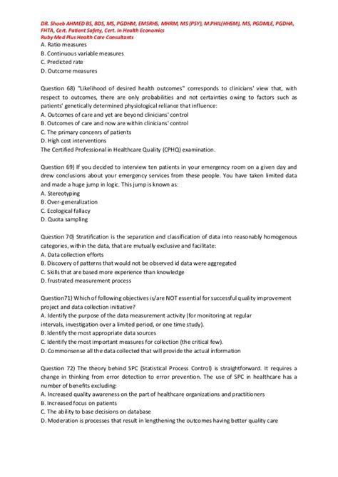Dorris Mba Rhia Cphq by Cphq Practice Questions Cphq Practice Tests