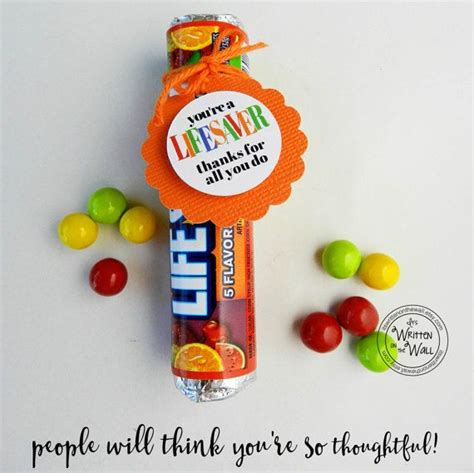 You Re A Lifesaver Treat Tag 48 Thank By