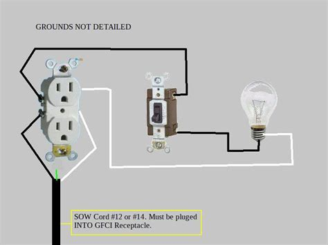 light switch to outlet wiring diagram outlet to switch to