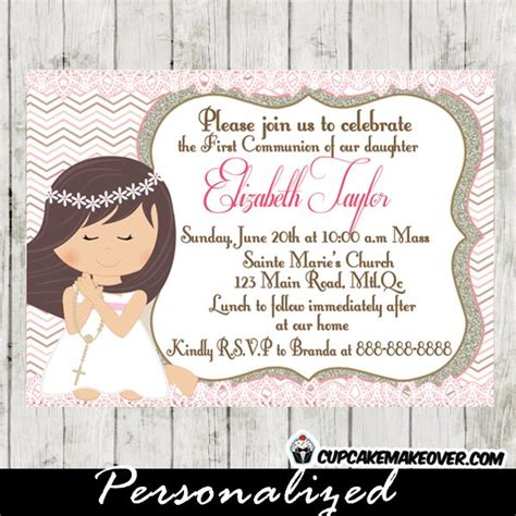 printable invitations first communion 27 best first holy communion invitations diy printable