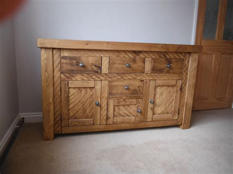 Handmade Pine Furniture - custom made plank pine sideboard handcrafted by incite