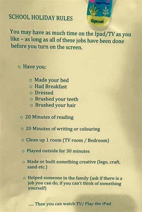 ipad printable to do list holiday school rules yaaassss chores to do list