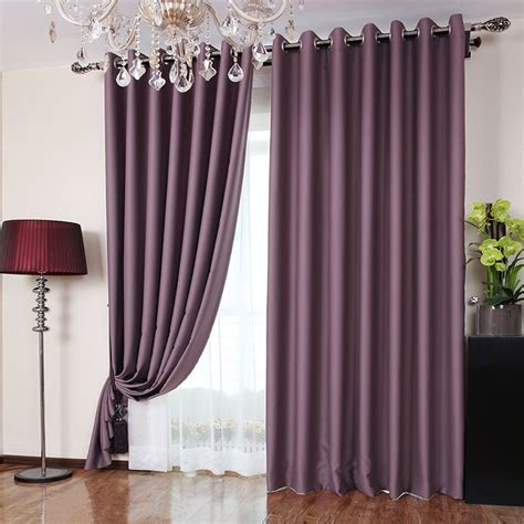 blackout curtains for bedroom polyester fabric bedroom romantic purple blackout curtains