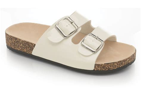 comfort sole shoes ladies womens flat sandals summer comfort cork sole mules