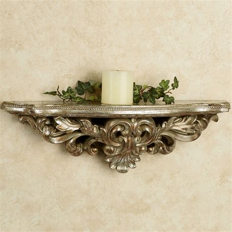 elisa silver gold decorative wall shelf