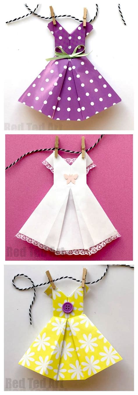 How To Make An Origami Dress - 3147 best from ted images on