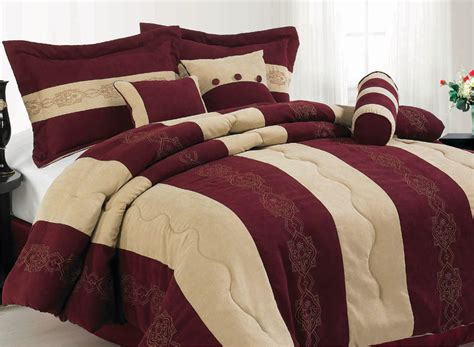 burgundy king comforter 7pcs king burgundy micro suede comforter set ebay