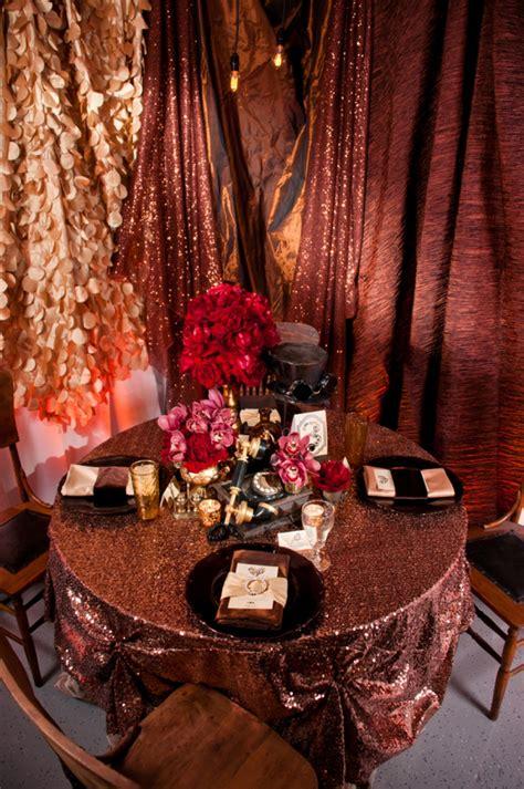 steampunk red  copper wedding inspiration