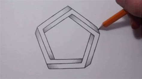 Drawing 3d Shapes by How To Draw An Impossible Pentagon Cool Optical Illusion