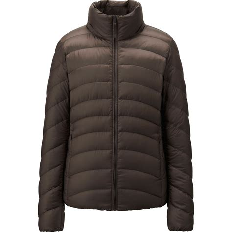 uniqlo women ultra light down parka uniqlo ultra light down jacket in brown dark brown lyst