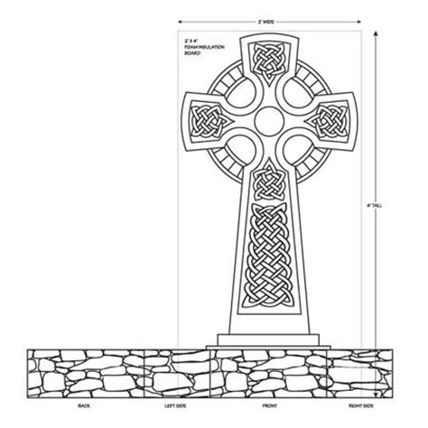 A Haunted Halloween Projects Celtic Cross Other Tombstones Tombstone Designs Templates