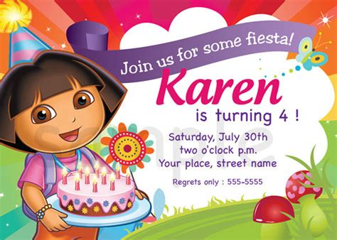 dora the explorer templates for invitations dora the explorer birthday invitations ideas bagvania