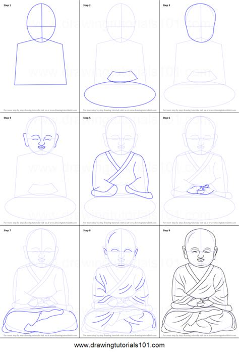 doodle drawing step by step how to draw a buddha pencil drawing