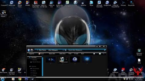 themes for windows 7 skin pack windows 7 theme alienware skin pack youtube