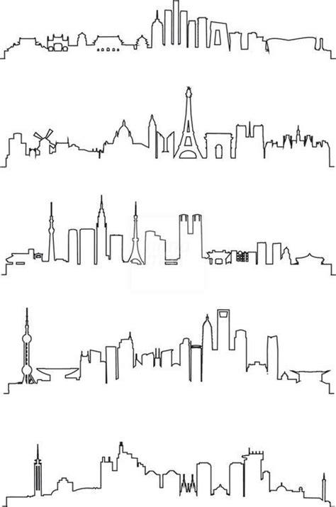 city line tattoo resultado de imagem para one line city tattos