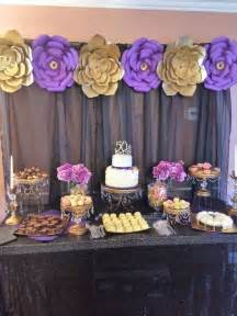 Purple And Gold Birthday Decorations by Gold Purple And Black Birthday Ideas Birthday