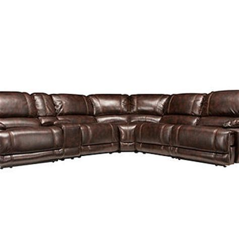 6 Person Sectional Sofa Dowling 6 Pc Power Reclining Sectional From Raymour