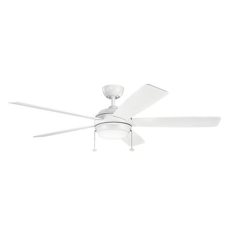 60 ozone led white ceiling fan kichler lighting 330180mwh 60 quot starkk led ceiling fan in