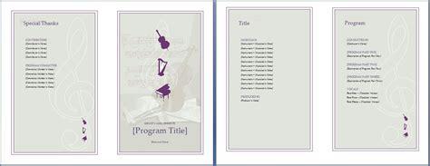 free printable wedding programs templates the template is