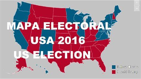 mapaor de elecciones usa 2016 mapa electoral usa 2016 segun las encuestas previo al dia