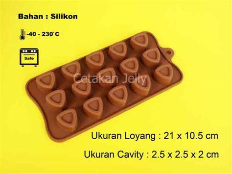 Cetakan Silikon Coklat Puding Pyramid 15 Cavity Cetakan Silikon Coklat Puding Triangle 15 Cavity Cetakan Jelly Cetakan Jelly