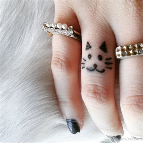 cat finger tattoo cat tattoos designs pictures