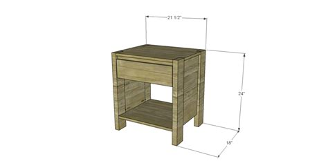 1 drawer nightstand plans designs by studio c