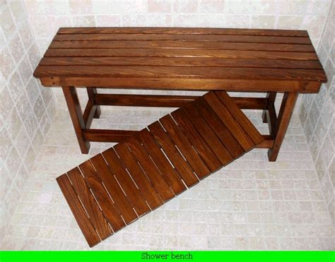 shower benches wood wood shower bench bathroom ideas pinterest