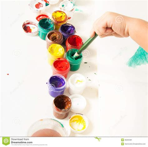 choosing colors for drawing stock image image 30293481
