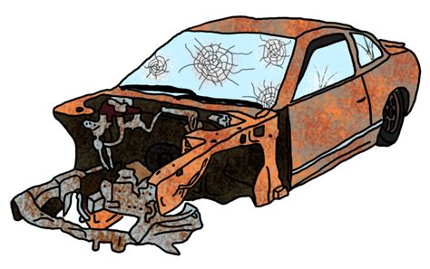 wrecked car drawing car wreck drawing car pictures ls6vzw clipart kid