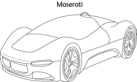 super car maserati coloring page  kids
