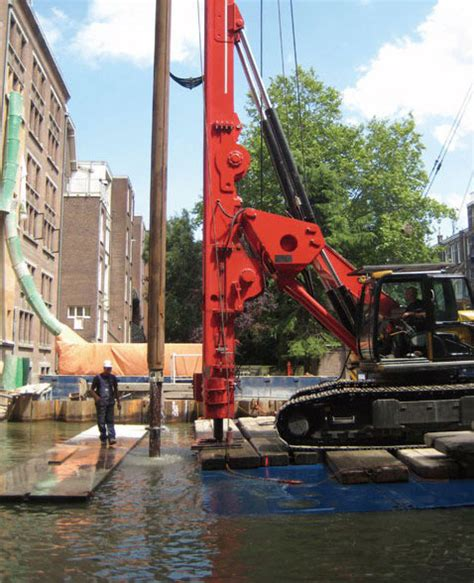amsterdam museum renovation sany drilling rig used in van gogh museum renovation in
