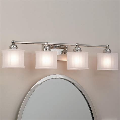 bathroom strip light fluted drum shade bath strip 4 light