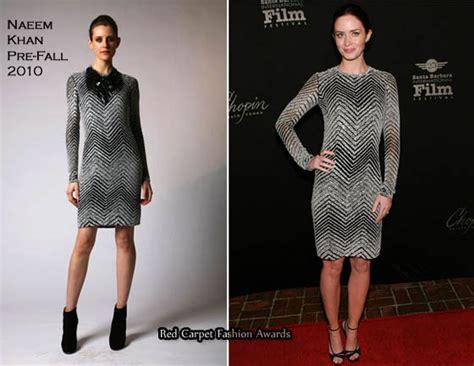 Catwalk To Carpet Naeem Khan Carpet Style Awards 2 by Runway To Virtuoso Awards Emily Blunt In Naeem Khan