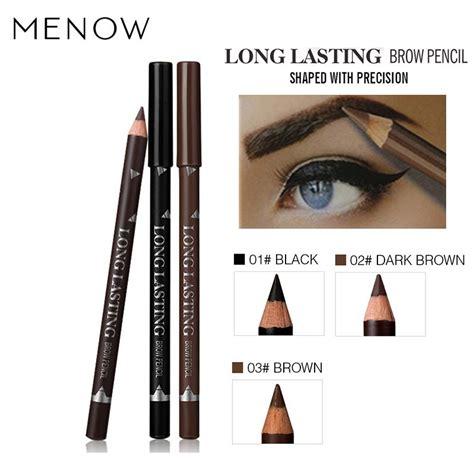 Menow Eyebrow Black N Brown Eyeliner menow brand brow cosmetics for makeup lasting pigment coffee brown black