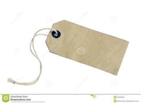Label Paper - paper label with string isolated on the white