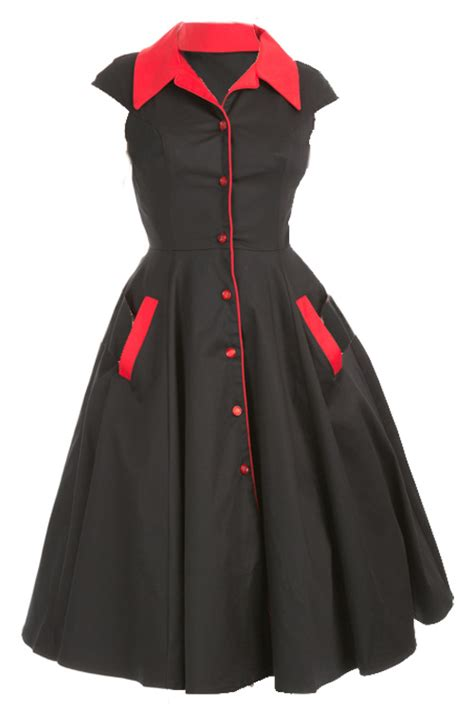 swing dress with collar meadow black swing dress with red collar dresses meadow