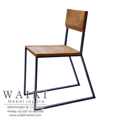 Kursi Besi Metal Kursi Cafe Kayu Besi Minimalis Iron Wood Dining Chair Industrial Jepara