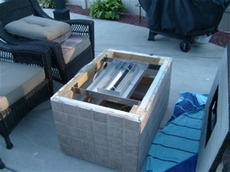 build gas pit table how to build a gas or propane outdoor pit