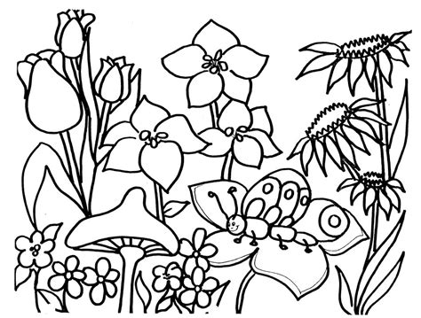 Free Springtime Coloring Pages Coloring Home Springtime Coloring Pages