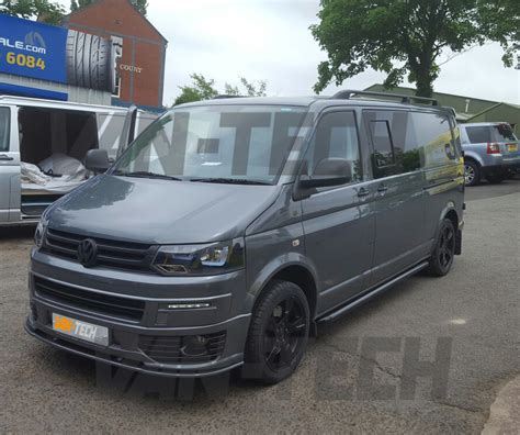 volkswagen van front vw transporter t5 with new front end styling pack fitted