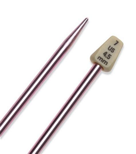 size 7 knitting needles susan bates single pt 14 silvalume knitting needle size