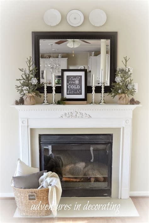 Decorating Ideas In Front Of Fireplace Adventures In Decorating Our Winter Great Room