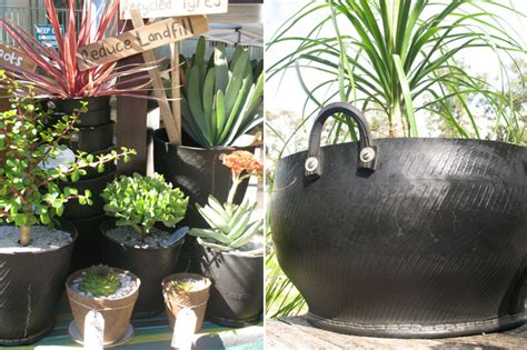 How To Make Recycled Tire Planters by Cool Planters Made From Recycled Tires Inhabitat Green