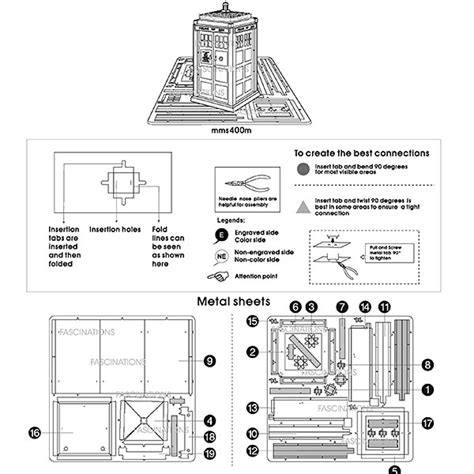 tardis diagram doctor who metal earth tardis 3d model