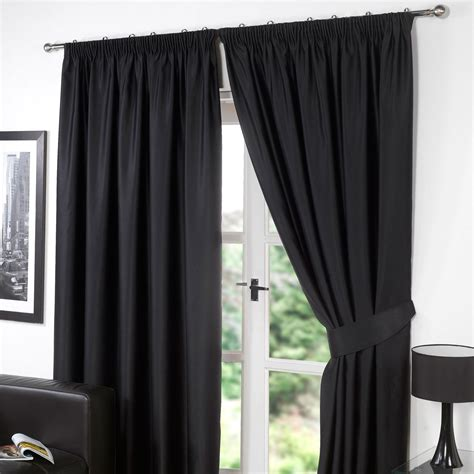 blackout curtains ebay dreamscene thermal pencil pleat pair of blackout curtains