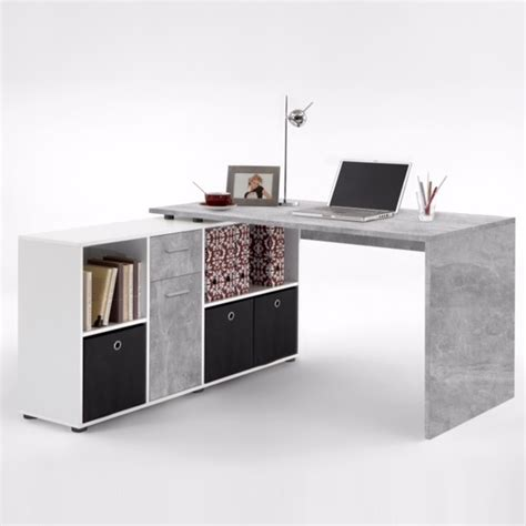 corner desk furniture flexi modern corner computer desk in atelier and white
