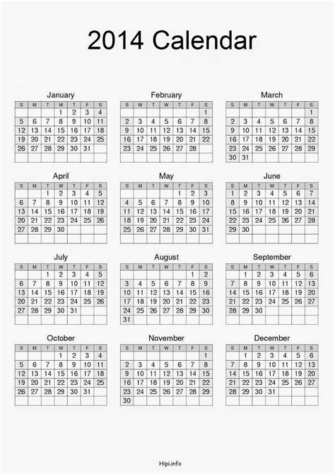 printable calendar 2014 a4 size twitter headers facebook covers wallpapers calendars