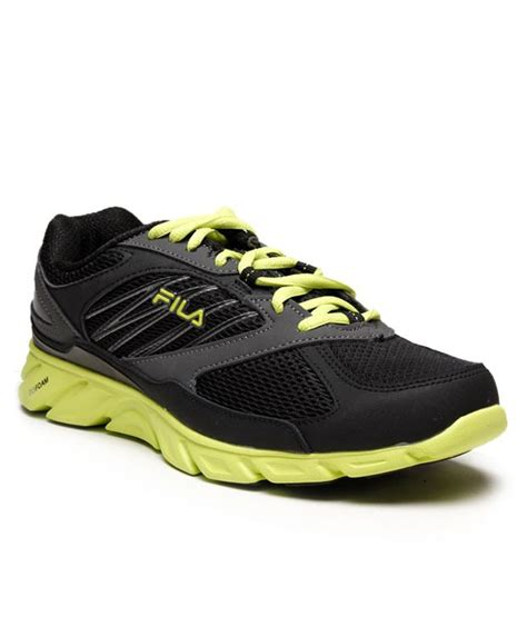 fila green sneakers fila black lime green running shoes price in india buy